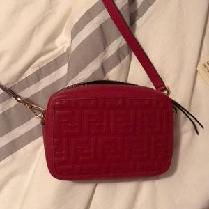 Fendi red camera bag
